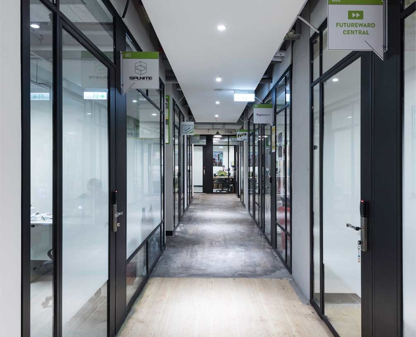 private offices hallway
