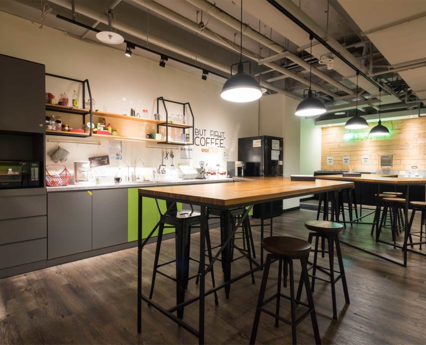 kitchen area common space