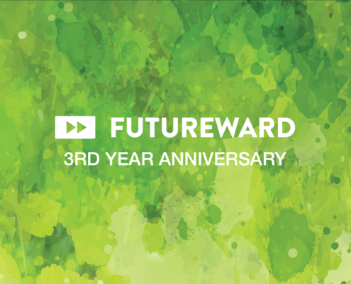Green picture saying FutureWard 3rd Anniversary